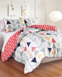 Coral Comforter Sets Great Hotels Collection Chloe Reversible Geometric Triangle