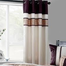 Manhattan Curtains Manhattan Plum Lined Eyelet Curtains Dunelm