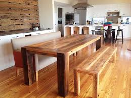Stunning Ideas Rectangle Kitchen Table With Bench Imposing - Dining room table bench