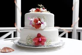 Tropical Themed Wedding Cakes - st lucia weddings can be arranged at calabash cove