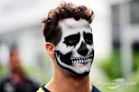 Bull Halloween Costume Daniel Ricciardo Red Bull Racing Halloween Themed Face Paint
