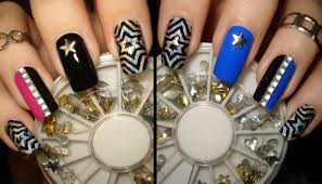 star studded bps bling new years nail art design tutorial 2 fun
