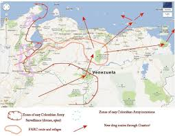 Venezuela Map Venezuela News And Views The Building Up Of A Farc Drug Corridor