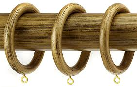 Gold Curtain Rings Wooden Curtain Poles 50mm Glif Org