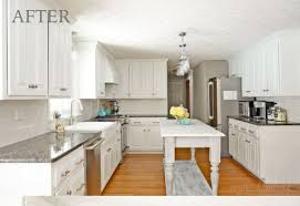 How To Refinish Kitchen Cabinets White Charm Painted Kitchen Cabinet Ideas Tags Repainting Kitchen