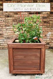 Planters On Wheels by I Should Be Mopping The Floor Diy Planter Box With Wheels