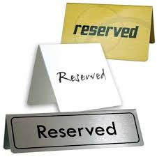 metal reserved table signs table signs printed metal reserved tent signs