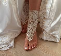 barefoot sandals for wedding ivory barefoot lace sandals wedding anklet