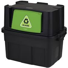 Green Kitchen Trash Can Rubbermaid 14 Gallon Flip Door Stackable Recycle Bin Walmart Com