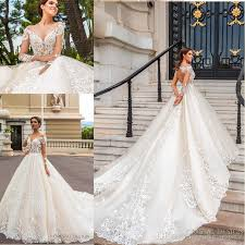 designer bridal dresses 2018 stunning designer wedding dresses with sheer sleeves