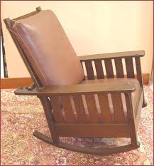 Mission Oak Rocking Chair Voorhees Craftsman Mission Oak Furniture Replica Slatted