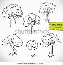 doodle tree vector set free vector stock graphics
