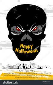 image of halloween background illustration skull on card halloween background stock vector