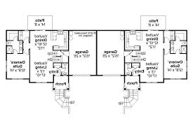 1 Storey Floor Plan Duplex House Plans Floor 1 Story Duplex Plan Columbine 60 046