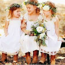 girls wedding party dresses uk white lace vintage flower