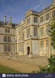 the projecting bay and entrance on the east front at montacute