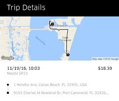 Map Of Cocoa Beach Florida by Uber And Port Canaveral Cruise Critic Message Board Forums