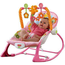 Baby Rocking Chair Baby Bouncer Seat For Toddler Rocking Chair Pink Bunny Print