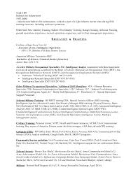 Army Infantry Resume Examples by 165 Military To Civilian Resume Sample Certified Resume Writer