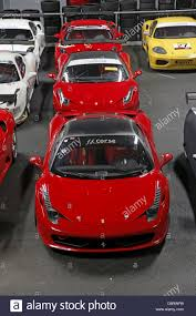 Ferrari 458 Challenge - ferrari 458 challenge cars in garage ff corse silverstone england