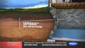 Basement Foundation Repair by Sinking Foundation And Bowed Wall Repair Foundation Repair Youtube