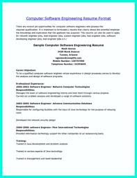 Sample Resume Computer Engineer by Resume Format For Computer Engineers Curriculum Vitae Samples For