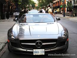 mercedes toronto mercedes sls amg spotted in toronto canada on 08 30 2012