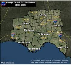 Frost Line Map Frost And Freeze Information For The Nws Tallahassee Area