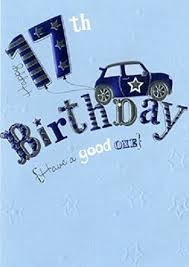 17th birthday card for boy amazon co uk kitchen u0026 home