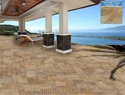 denizli noce travertine tumbled floor tile from