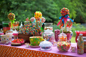 Candy Themed Centerpieces by Candy Themed Party Decoration The Centerpieces And Table Of Treats