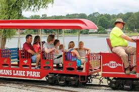 sportsman lake park cullman al christmas lights kids enjoying the train at sportsman lake park picture of