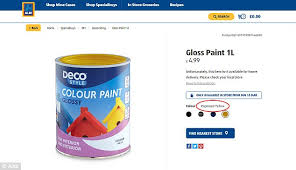 aldi forced to change the name of paint labelled u0027rape yellow