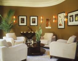 Decorating Ideas For Living Rooms With Brown Leather Furniture Brown Orange Floral Pattern Classic Carpet Traditional Living Room