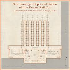Chicago Train Station Map by Railway Station Maps And More