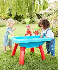 sand and water table with lid kids sandpits water play tables elc