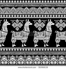 vector alpaca llama animal ethnic stock vector 397238983