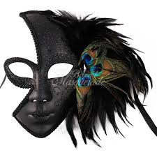 masquerade masks with feathers feather masquerade mask black beyond party supplies toys