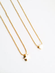 girl necklace chains images Kids jewelry tiny gold heart or star girl necklaces girls necklace jpg