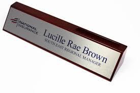 Custom Desk Plaque Business Card Holder Desk Sign Solid Wood Desk Signs Desk Name