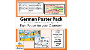 si e auto r er german poster starter pack by jusch12 teaching resources tes