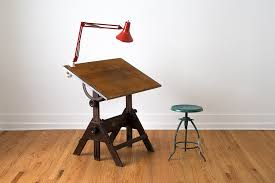 Light Drafting Table Vintage Drafting Table With Light And Chair Modern Home