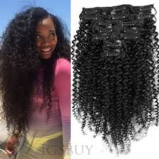 pics of black woman clip on hairstyle black women kinky curly 7 pcs clip in human hair extensions