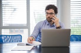 bureau homme d affaire homme d affaires conversation téléphone bureau télécharger