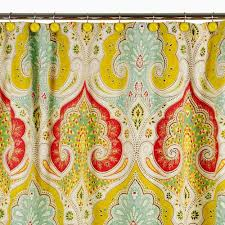 Echo Design Curtains Jaipur Shower Curtain Yellow Echo Design