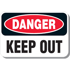 danger keep out signs from emedco stock items ship today