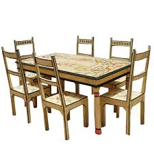 of paradise hand painted 7pc country dining table and chair set