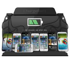 amazon com chargetech wall mounted cell phone charging station