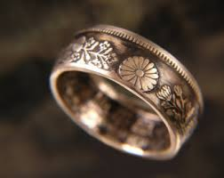 japanese wedding ring japanese coin ring etsy
