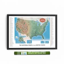 Scratch Off Map The National Parks Scratch Off Travel Map Large 36x24